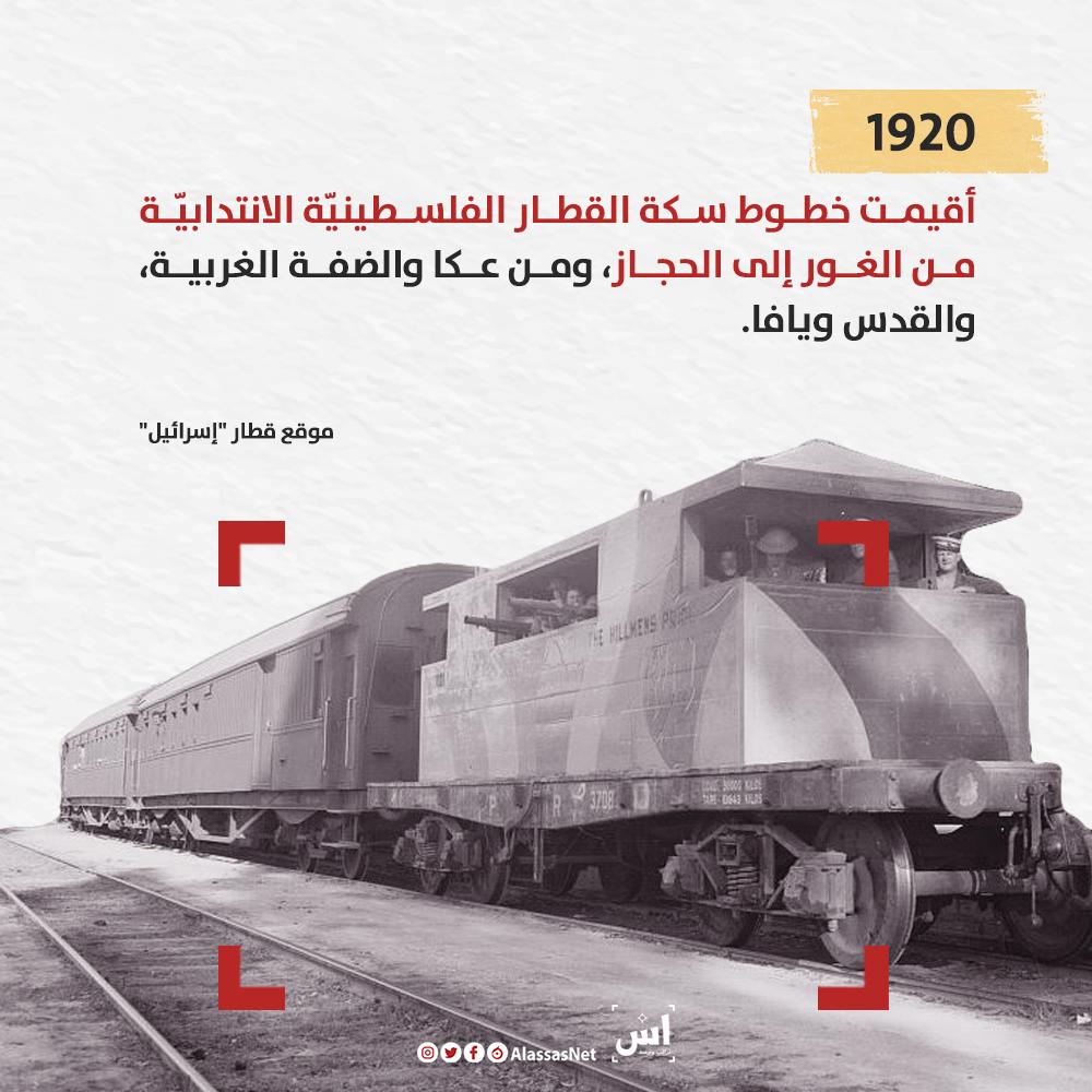 تاريخ القطارات في فلسطين